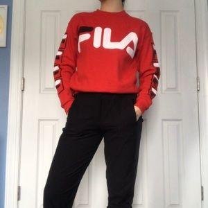 Red FILA Sweatshirt